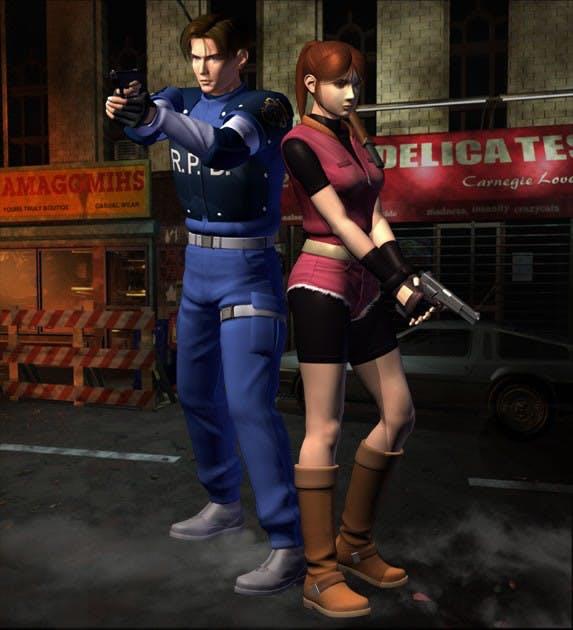Resident Evil 2 - Artwork Leon & Claire