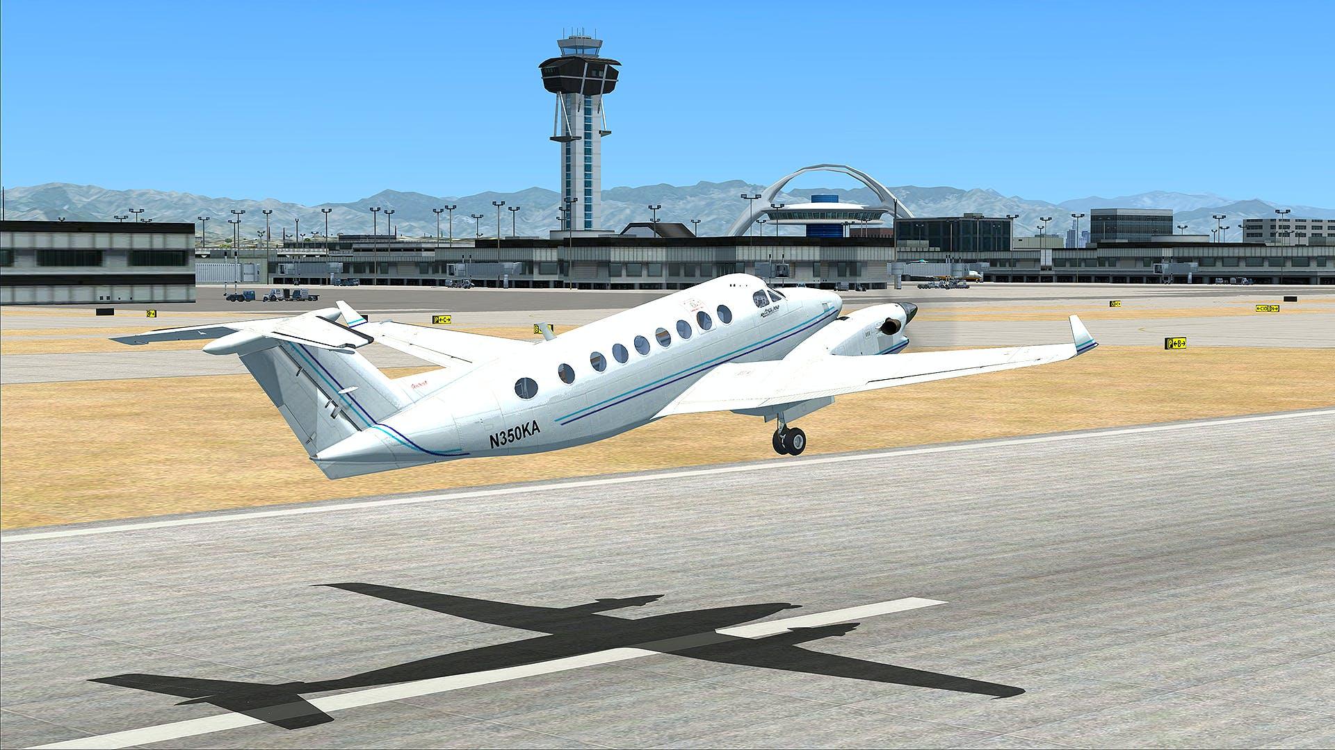 Flight simulator take off