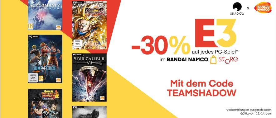 Mit unserem Code erhältst du 30% Rabatt für den Bandai Namco Store!