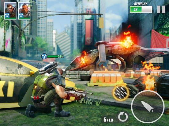 Hero hunters mobile app game