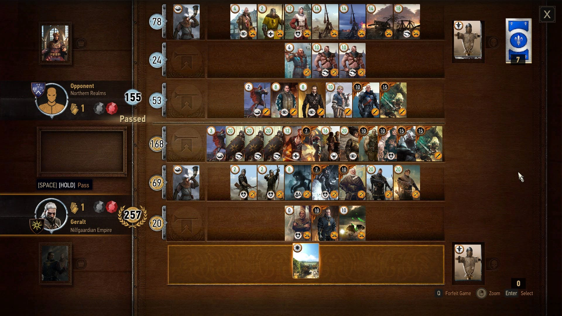 Gwent the witcher 3 minigame