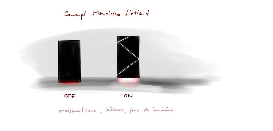 Exemple d'une idée de design abandonnée
