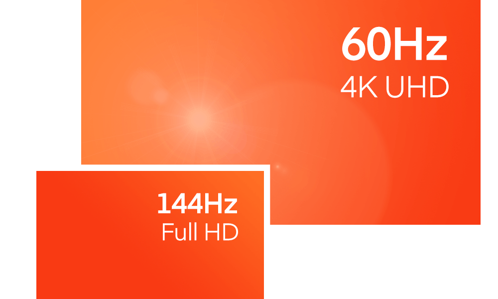 Your Shadow is designed to run the most demanding games and software. Enjoy high-end performance for optimal image fluidity up to 144Hz in Full HD and 60Hz in 4K UHD.