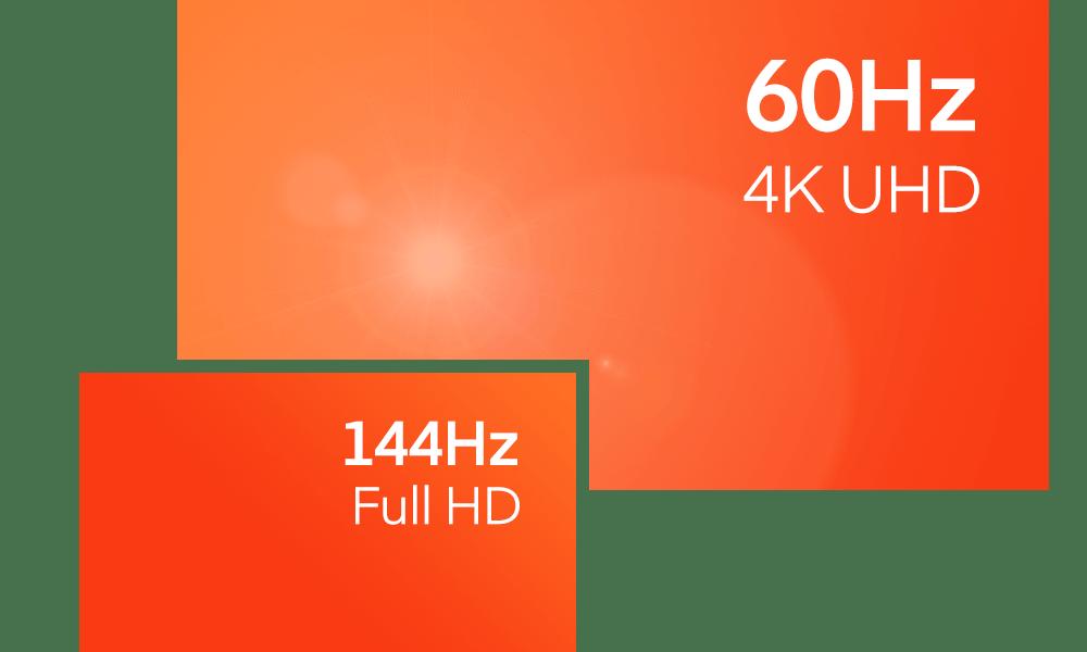 Ton Shadow est conçu pour faire tourner tes logiciels et tes jeux les plus exigeants. Profite de performances haut de gamme pour une fluidité allant jusqu'à 144Hz en Full HD et 60Hz en 4K UHD.