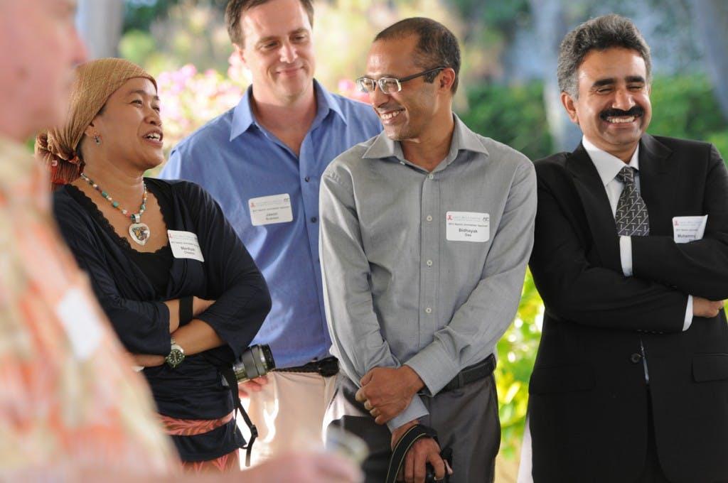 East-West Center Senior Journalists Seminar participants onsite at Shangri La.