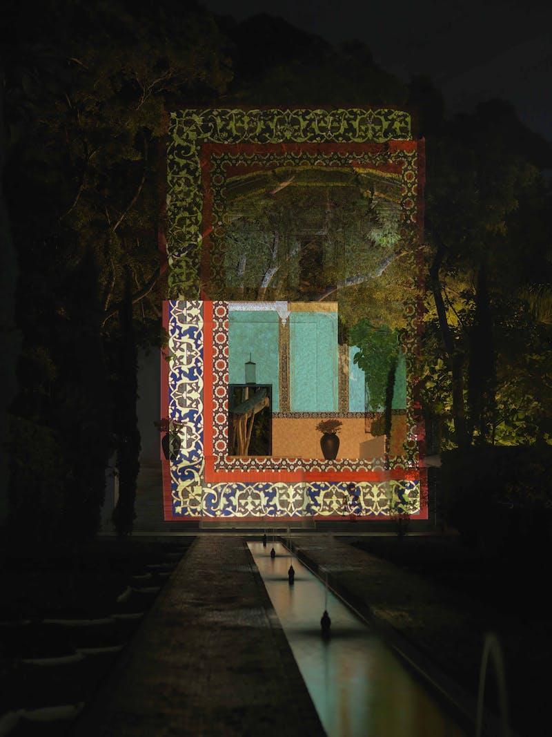 Unseen 3, Shahzia Sikander, HD-Digital Projection, 2011. Photo by David Adams.
