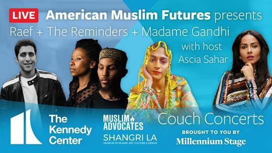 Promotional flyer for the American Muslim Futures project.