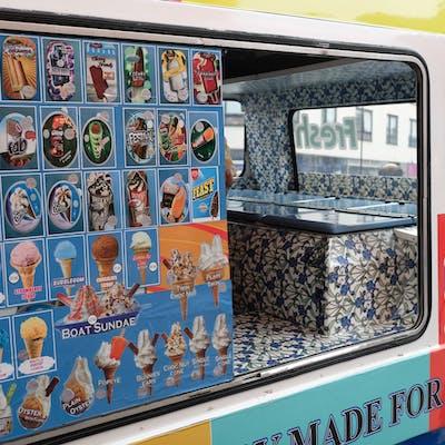 Custom Ice-cream van interior – High Street North, East Ham