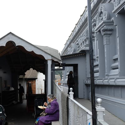 Decorative plywood extension - London Sri Murugan Temple, Little Illford