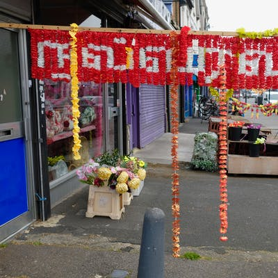 Party Shop pavement display – Romford Road, Manor Park