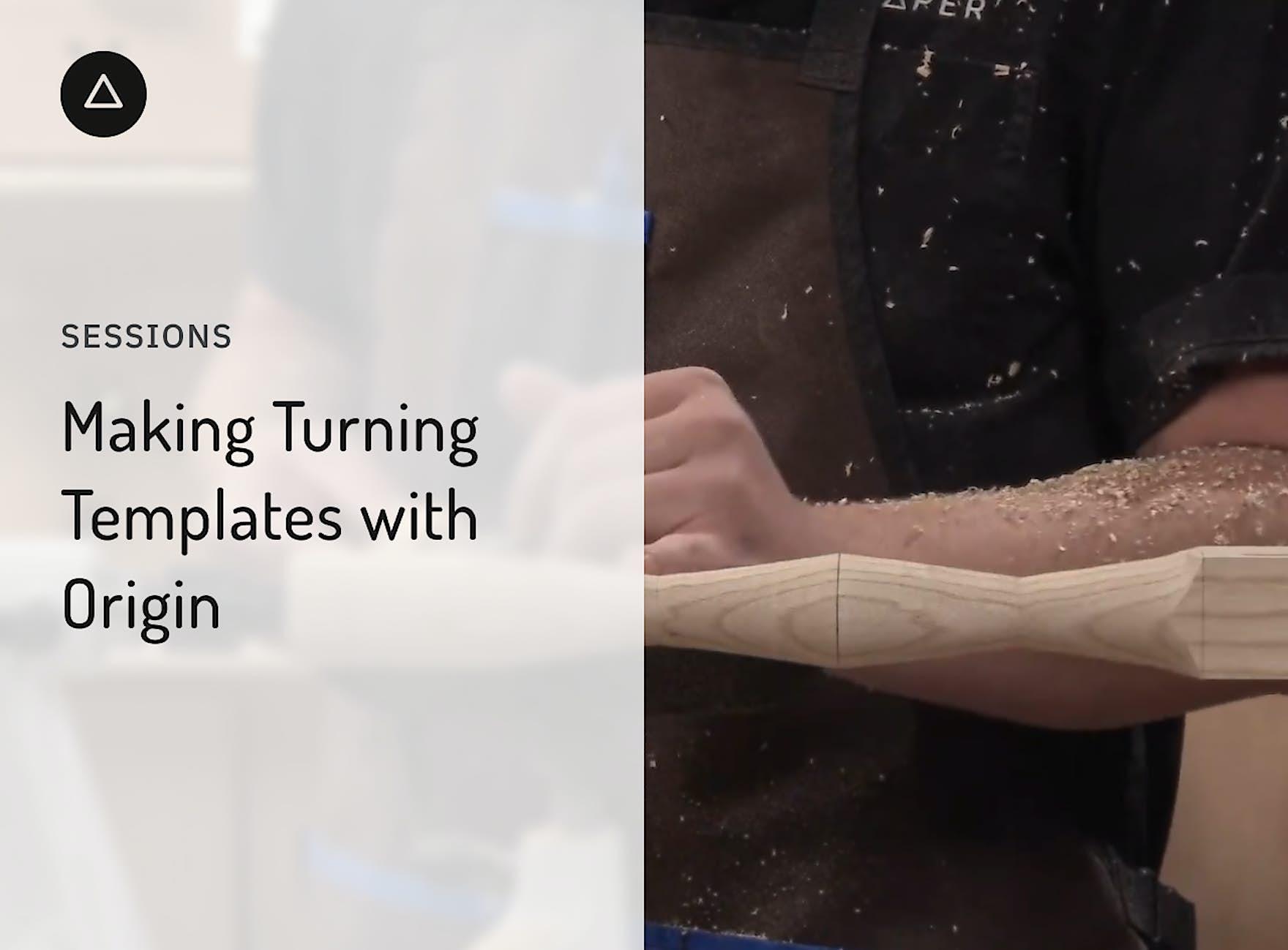 Jake turning a table leg on a wood lathe
