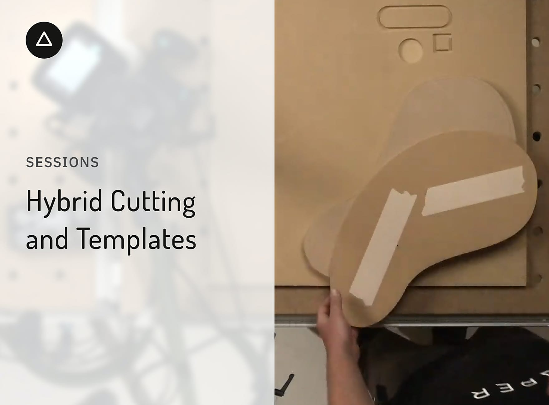 Pieces of MDF cut into bean shapes with double sided tape on them