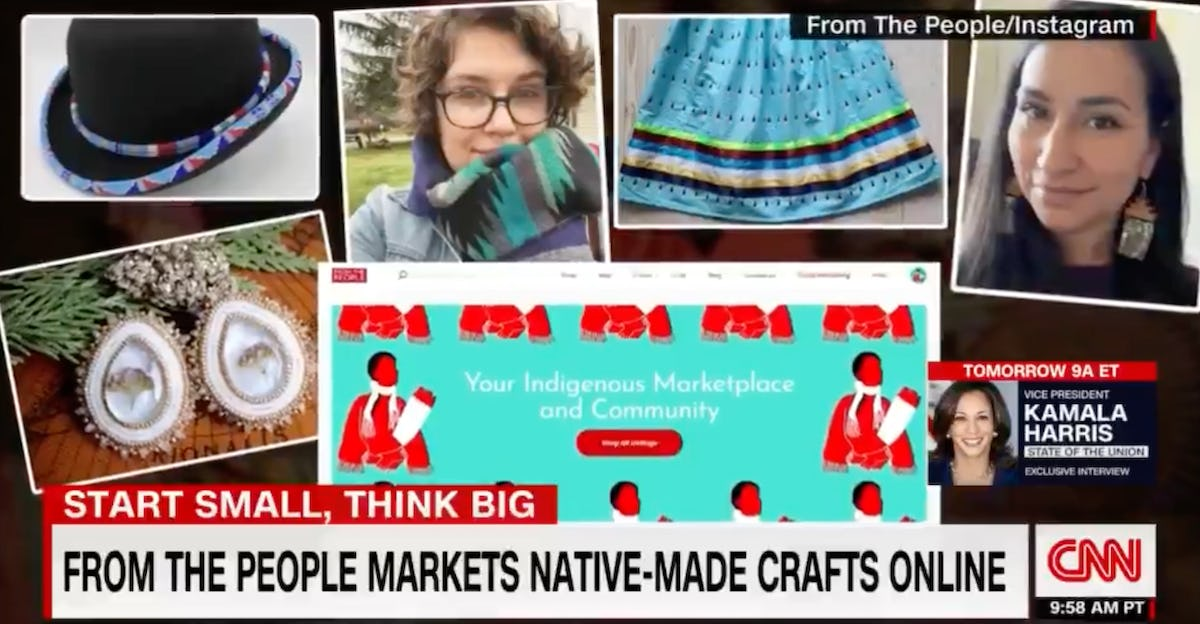 From The People marketplace for Indigenous crafts featured on CNN.