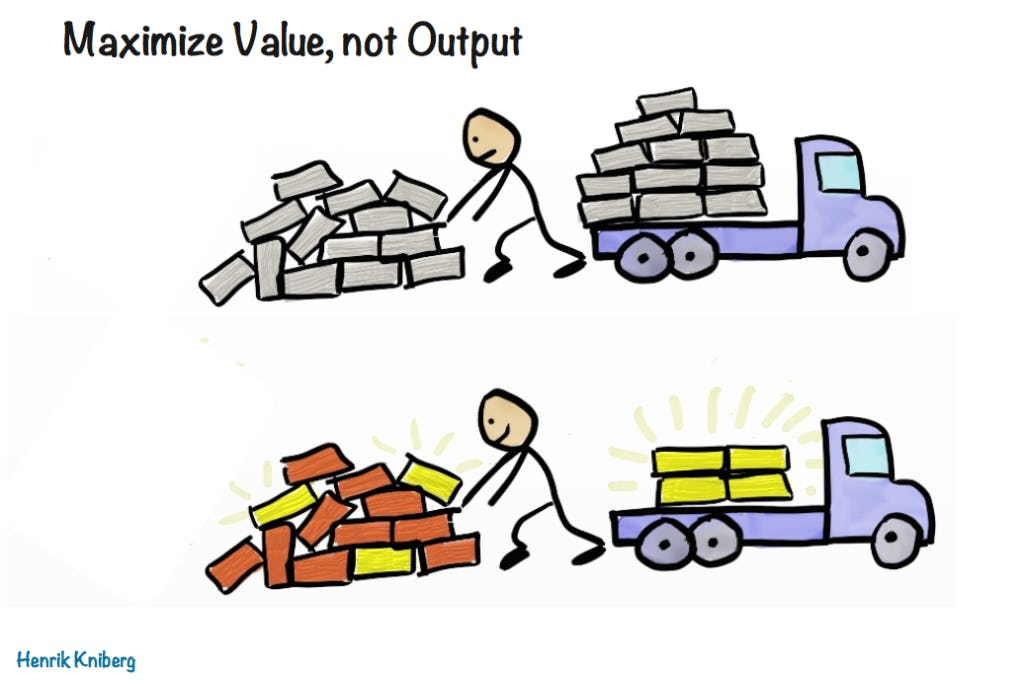 Maximize value, not output