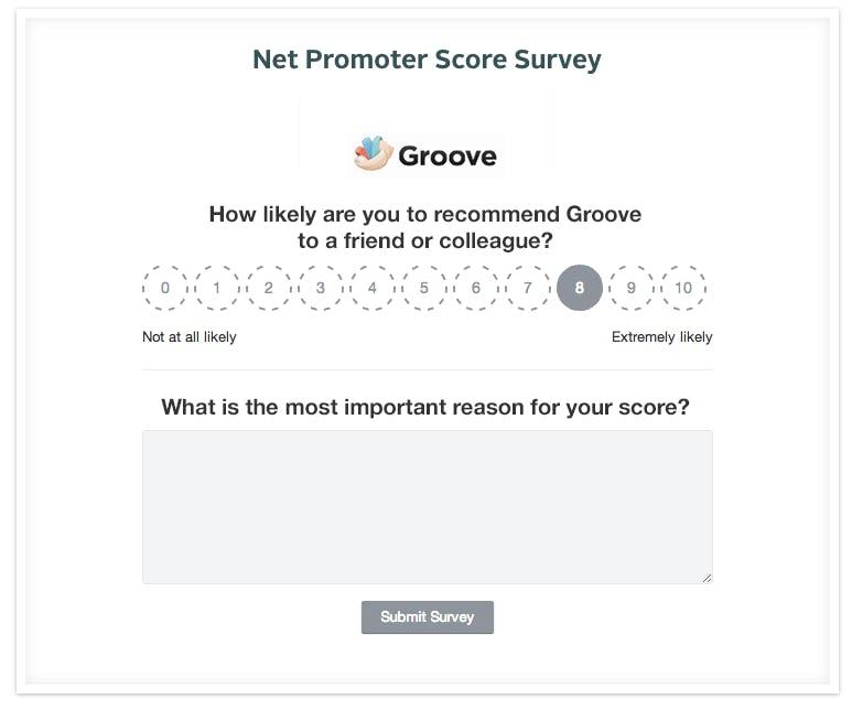 Marketplace metrics: Net Promoter Score survey
