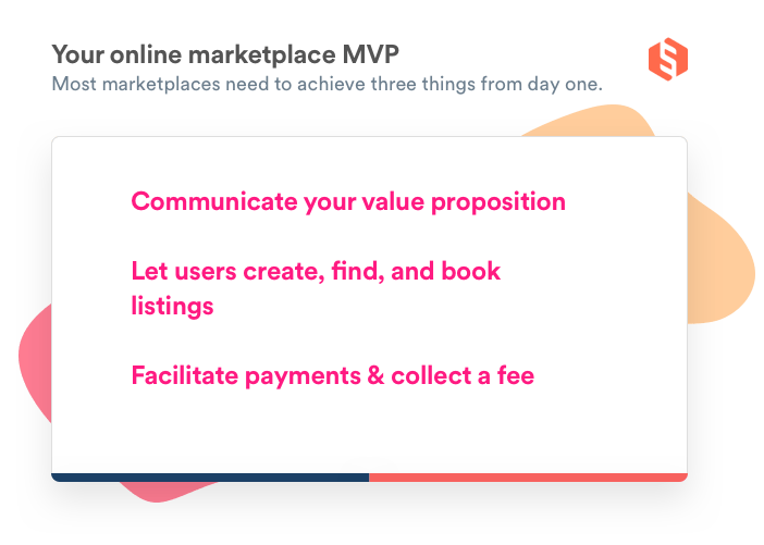 Stylized list about the three things a marketplace MVP needs to achieve.