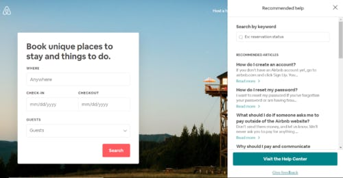 Airbnb's help center creates loyal marketplace customers