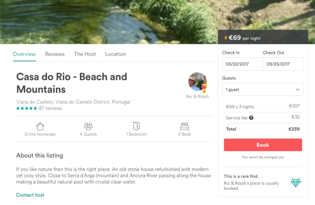 Location and availability are critical components in Airbnb's flow