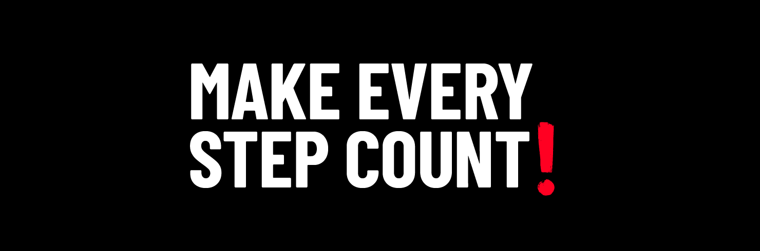 Make every step count! Walk for Home fundraising banner