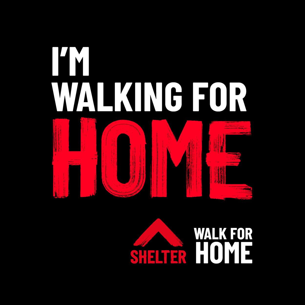 'I'm walking for home' Instagram tile