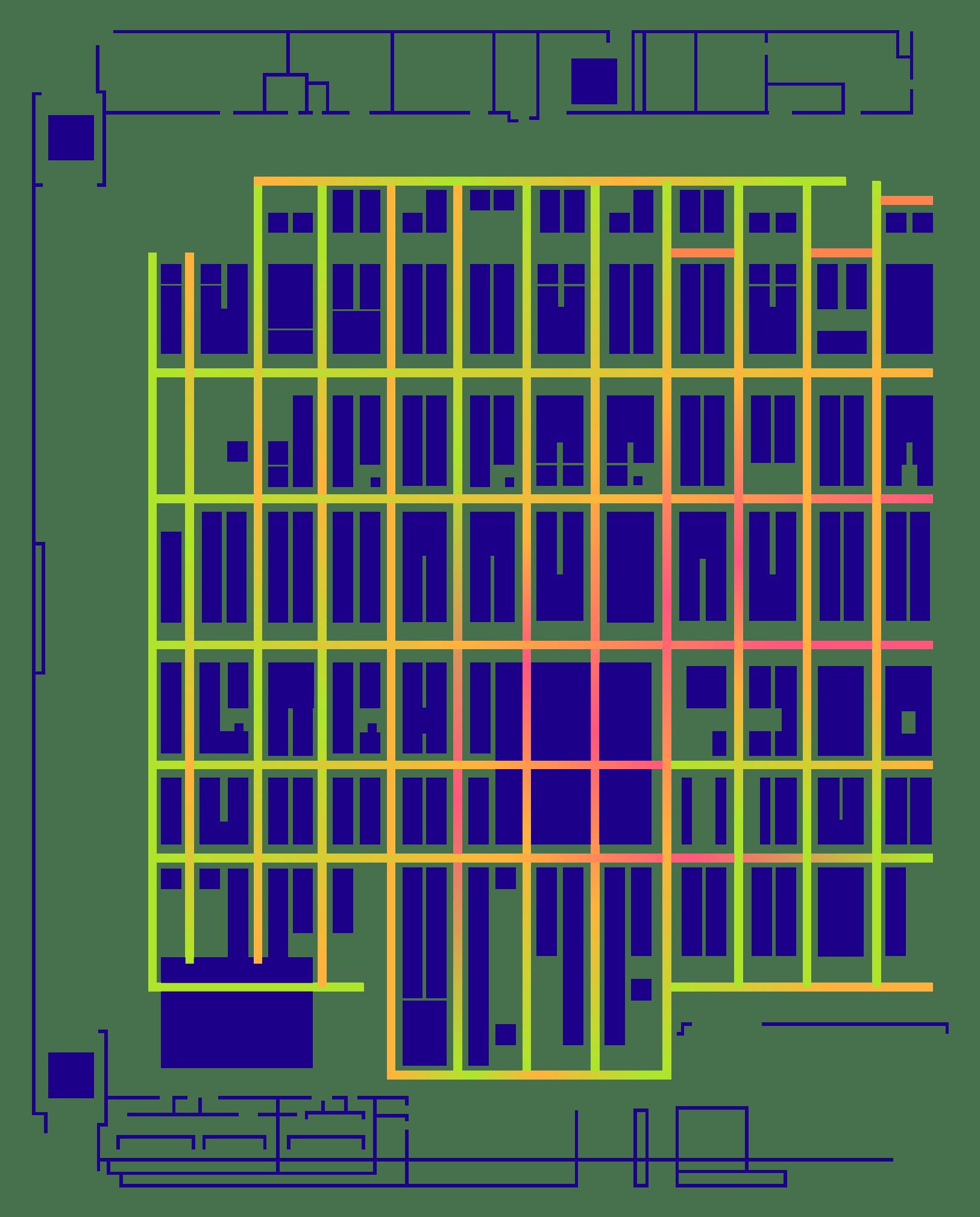Floor plan with smart heatmap