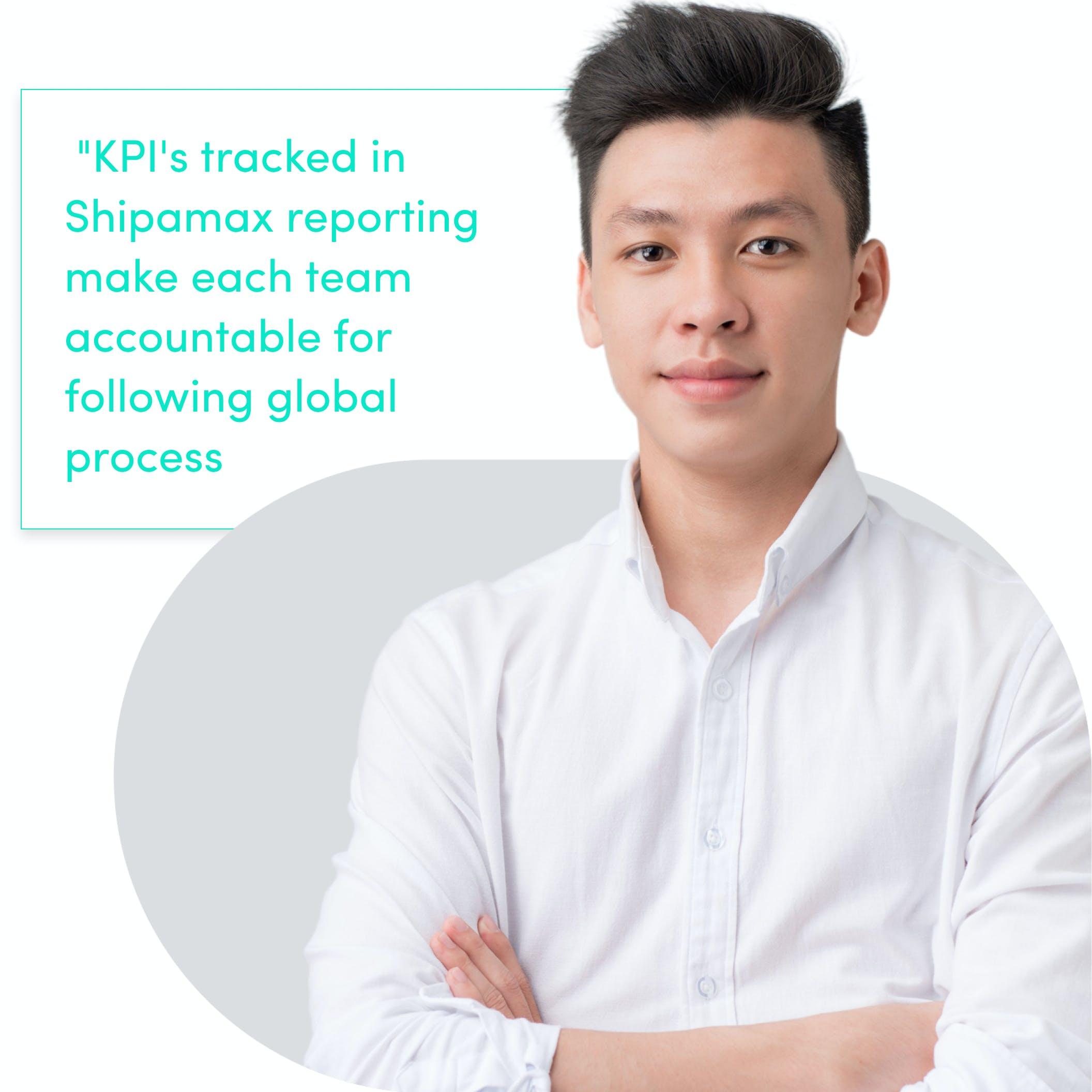 Shipamax KPIs for global process