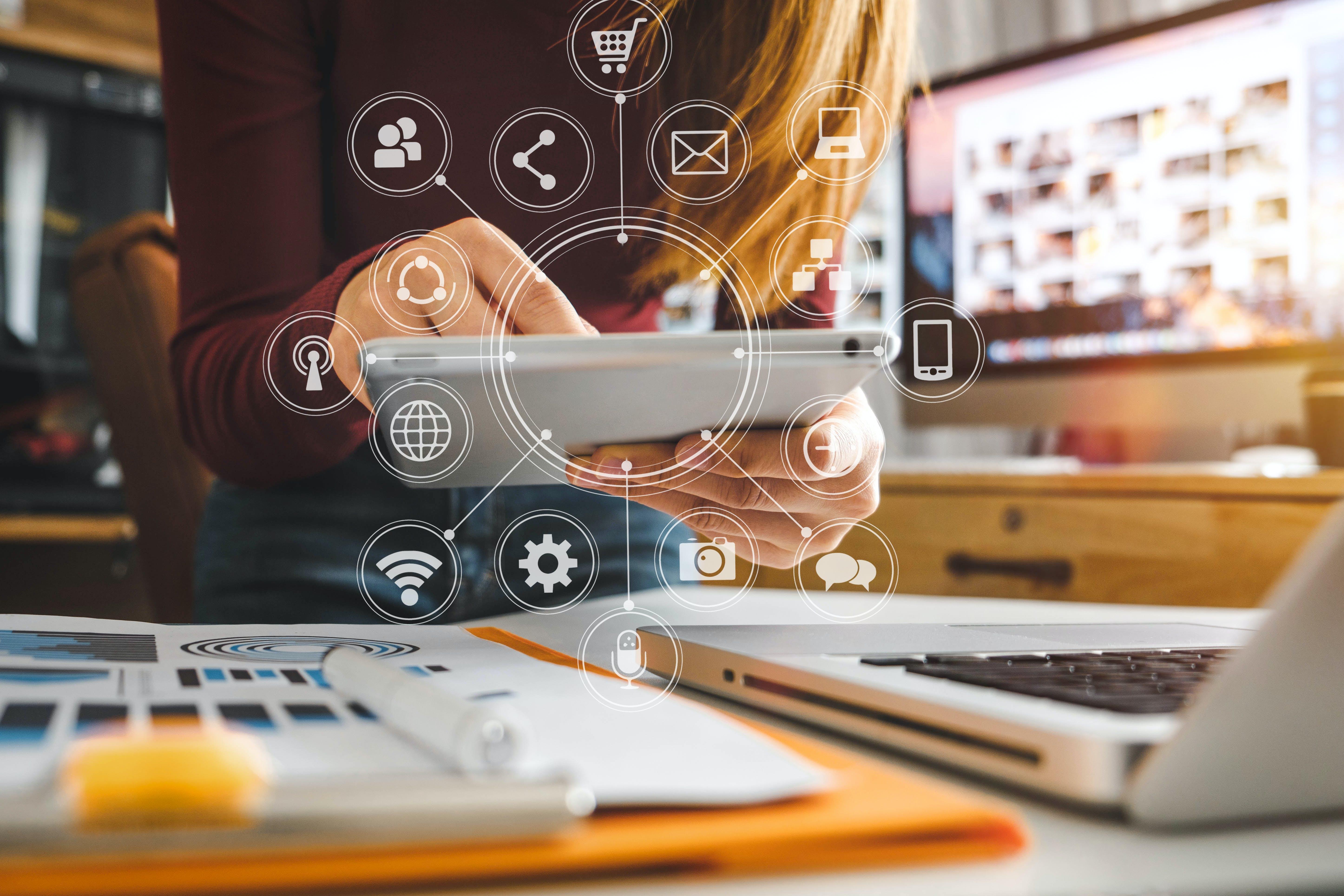 Modern digital office space for bulk shipping