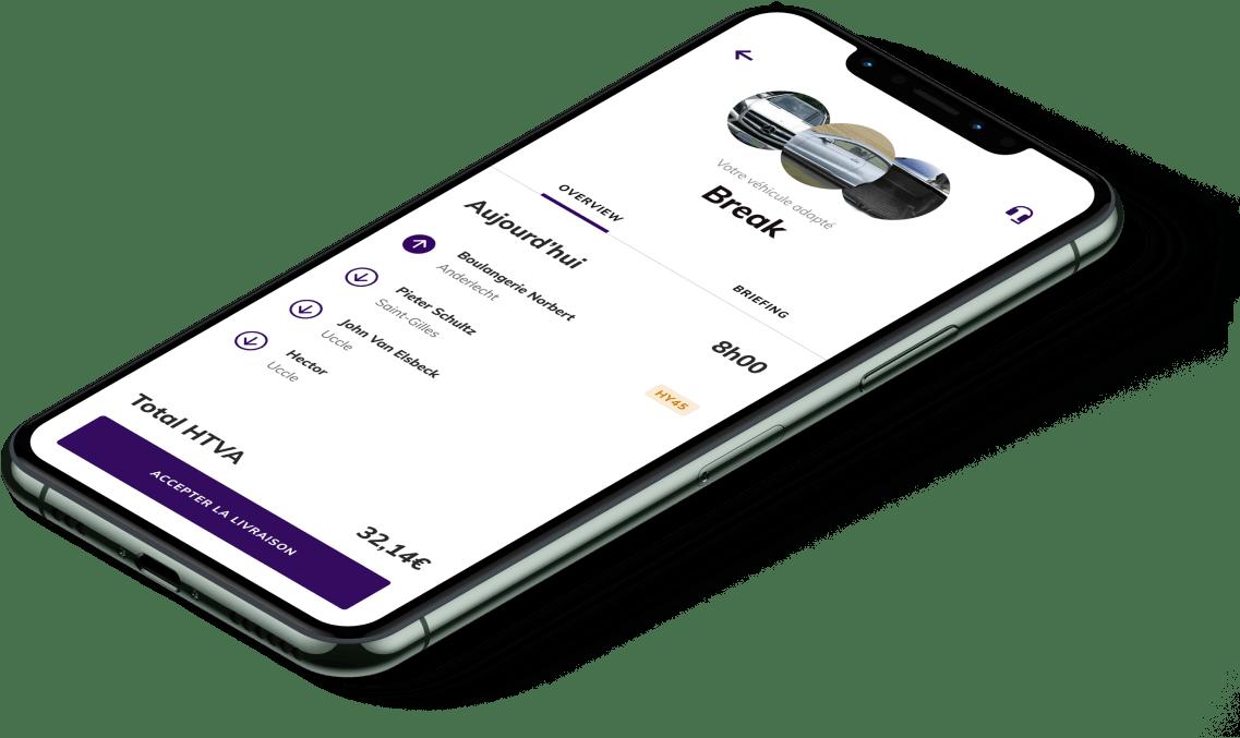 Application shippr pour les coursier sur Iphone