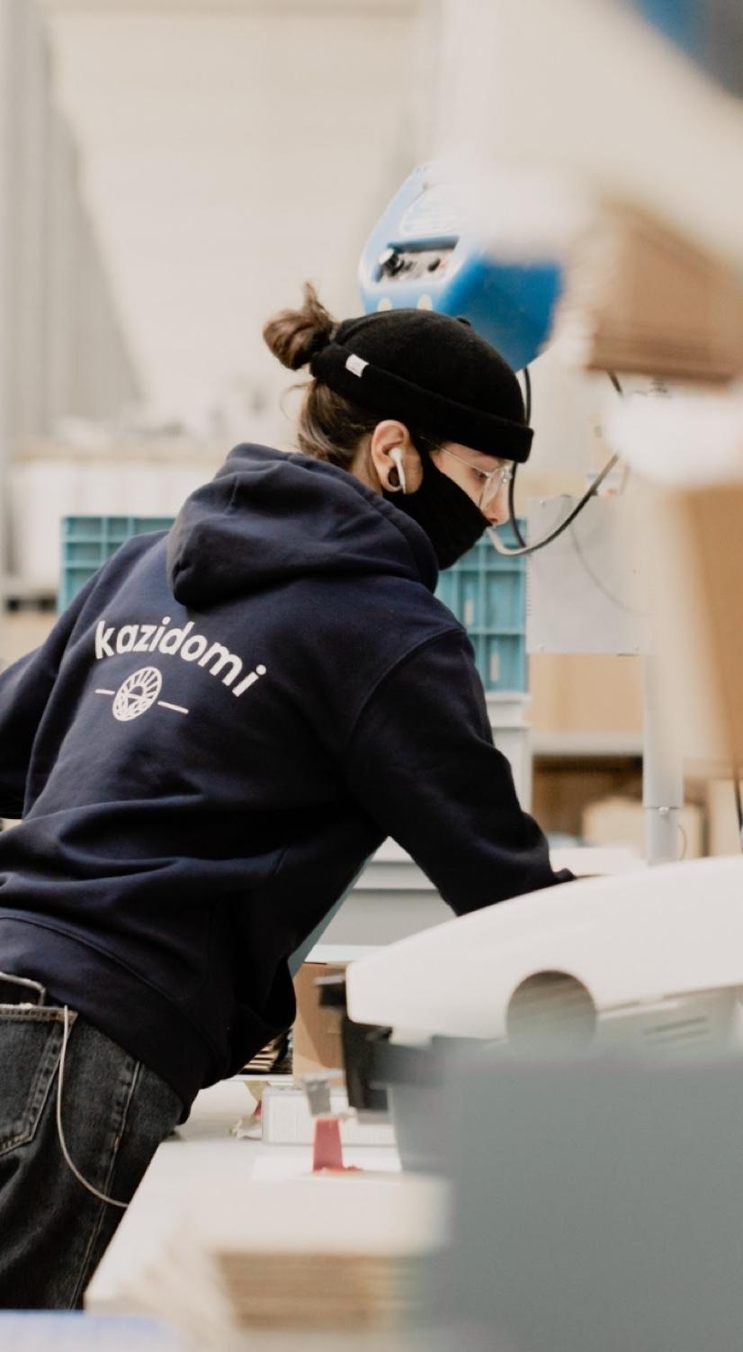 Préparation colis livraison Kazidomi