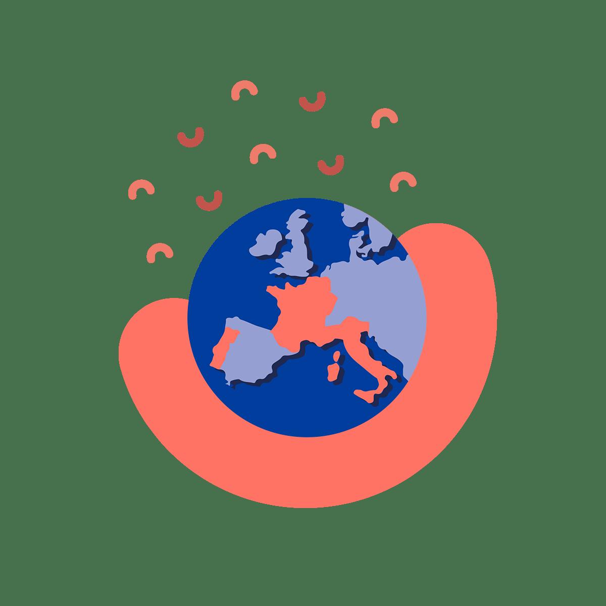 Shopopop con mappa d'Europa