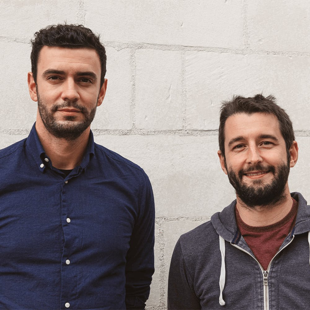 Foto Antoine Cheul e Johan Ricaut, fundadores da Shopopop