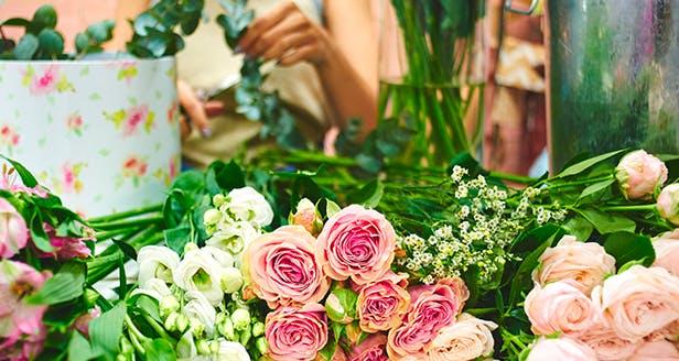 Photo fleurs chez un fleuriste