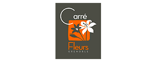 logo carré fleurs