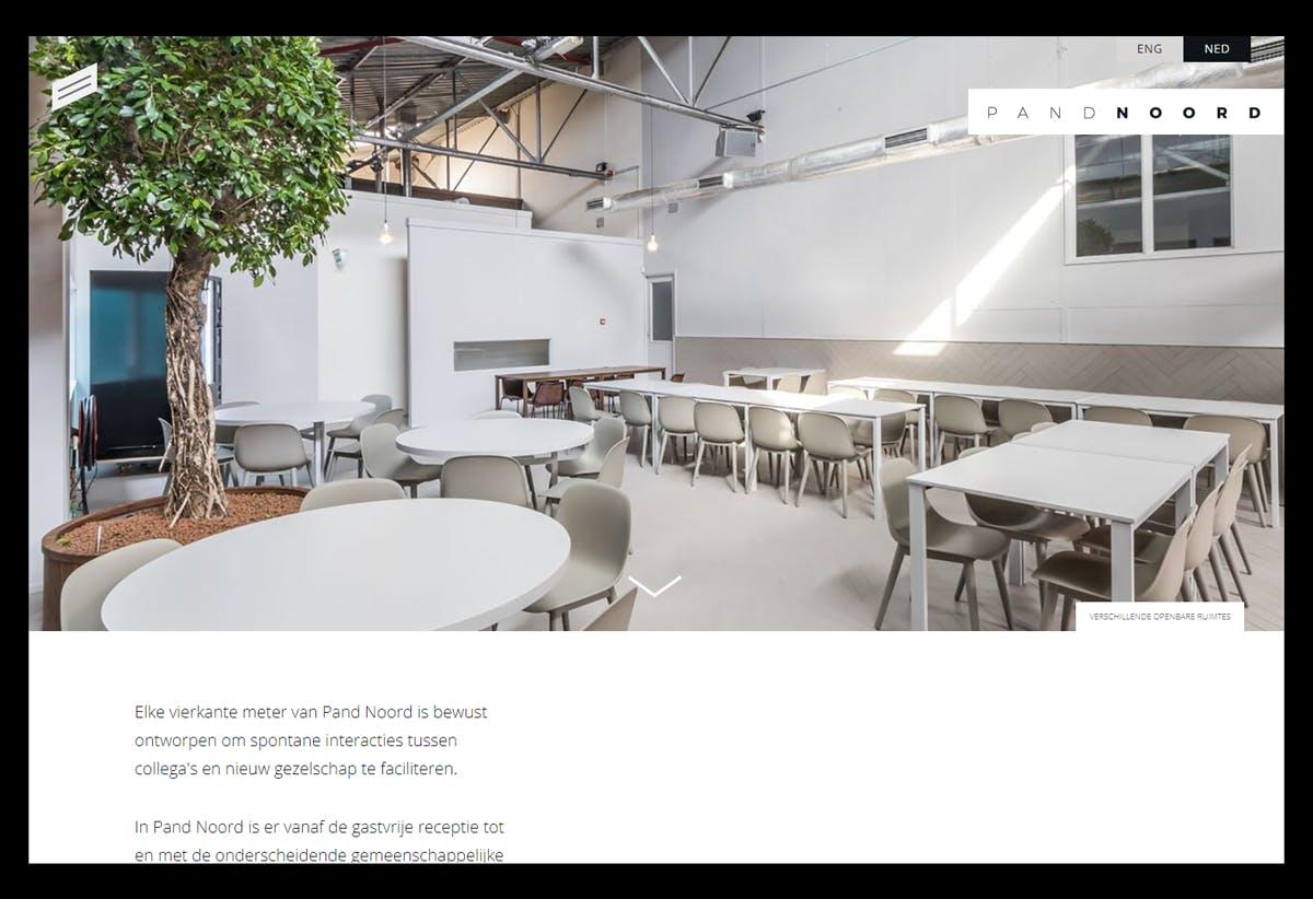 Pand Noord website development project.