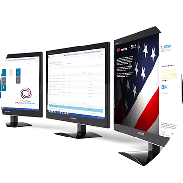 America Makes digital storefronts on computer monitors