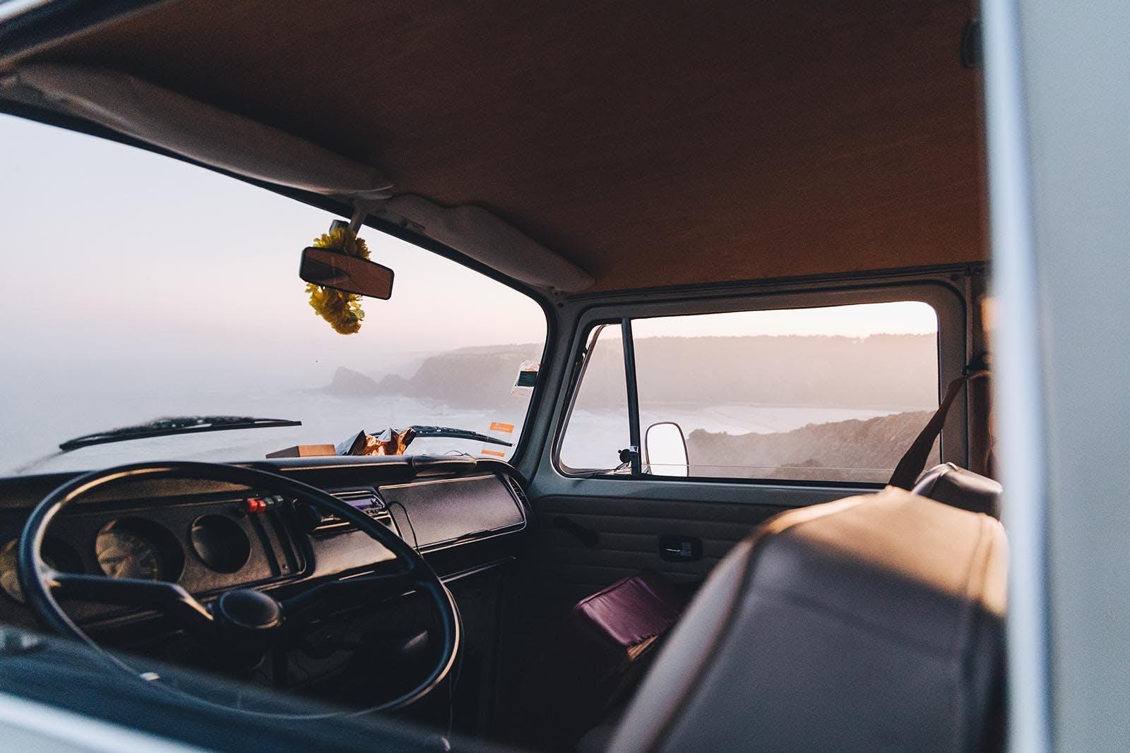 Volkswagen T2 steering wheel.