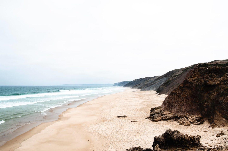 Beautiful Bordeira beach in the Algarve.