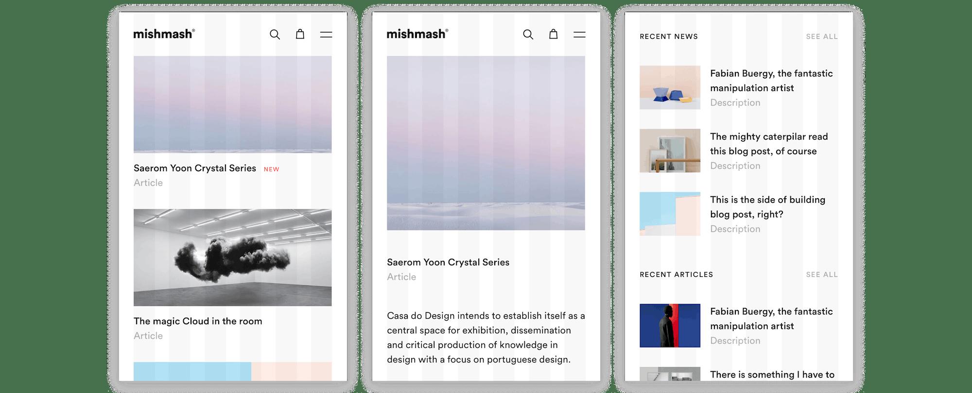 Mishmash Blog Mobile