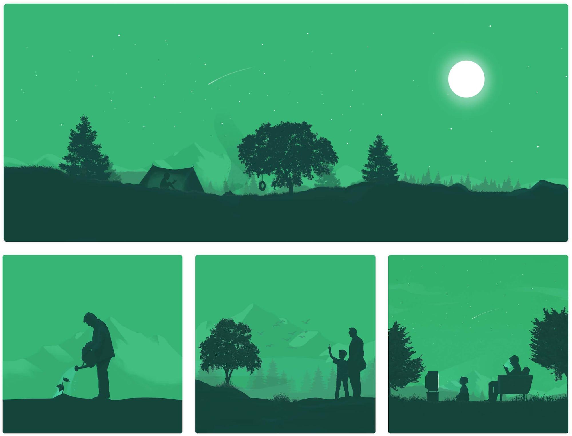 Reforestum Illustrations