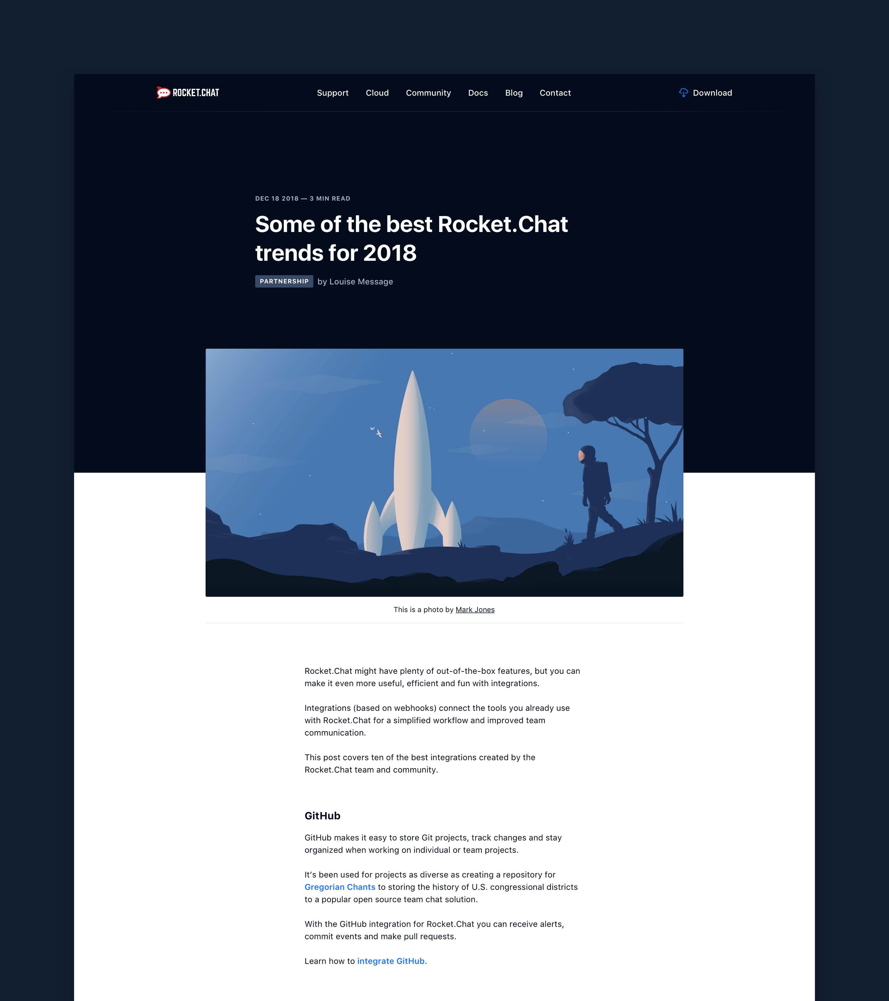 Rocket.Chat blog article