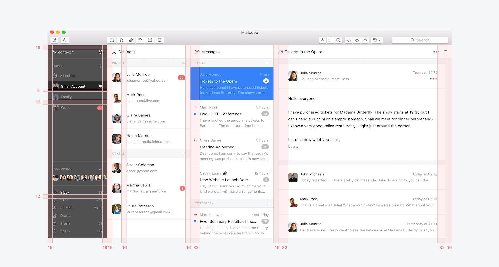 Mailcube App Redlines