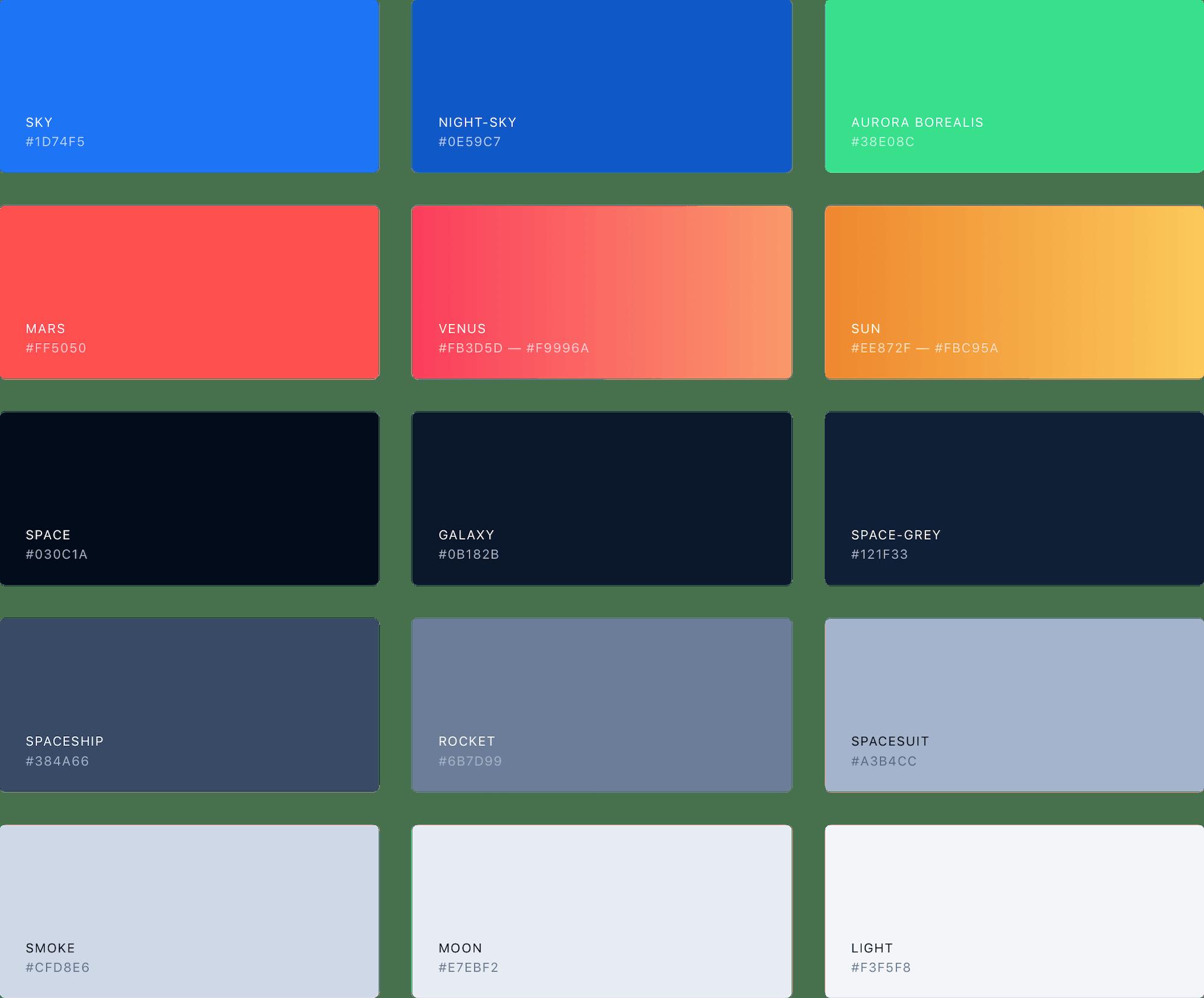 Rocket.Chat Colour Palette