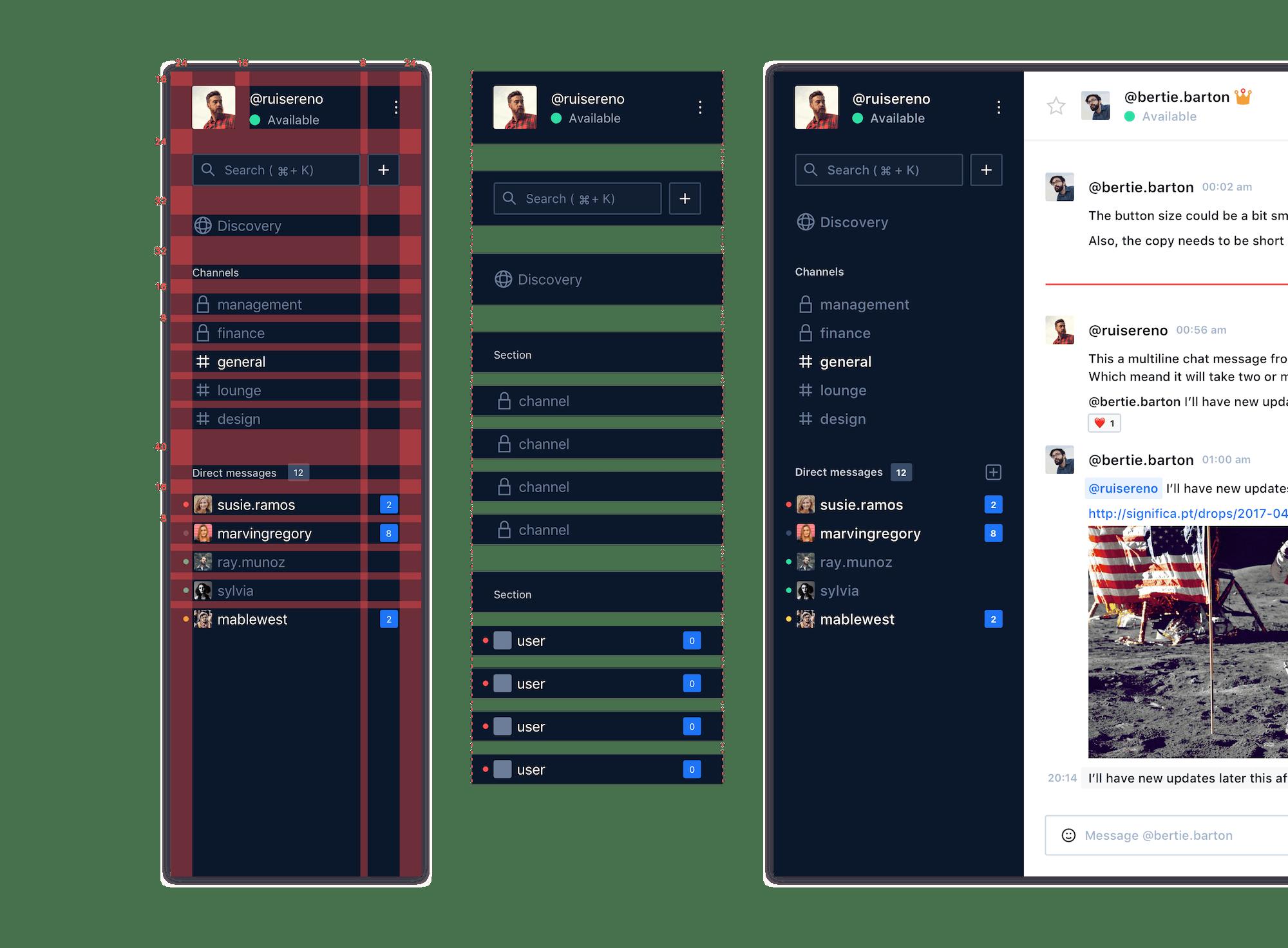 Rocket.Chat Sidebar
