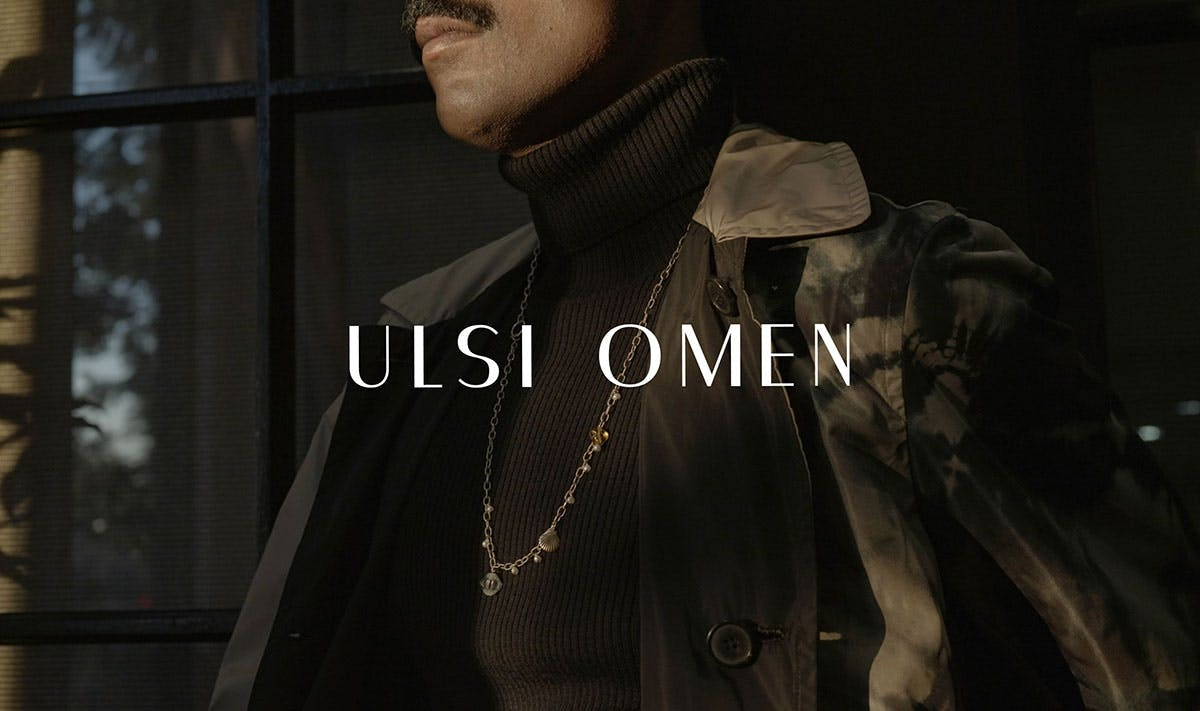 close up of model for ulsi omen los angeles jewelry brand