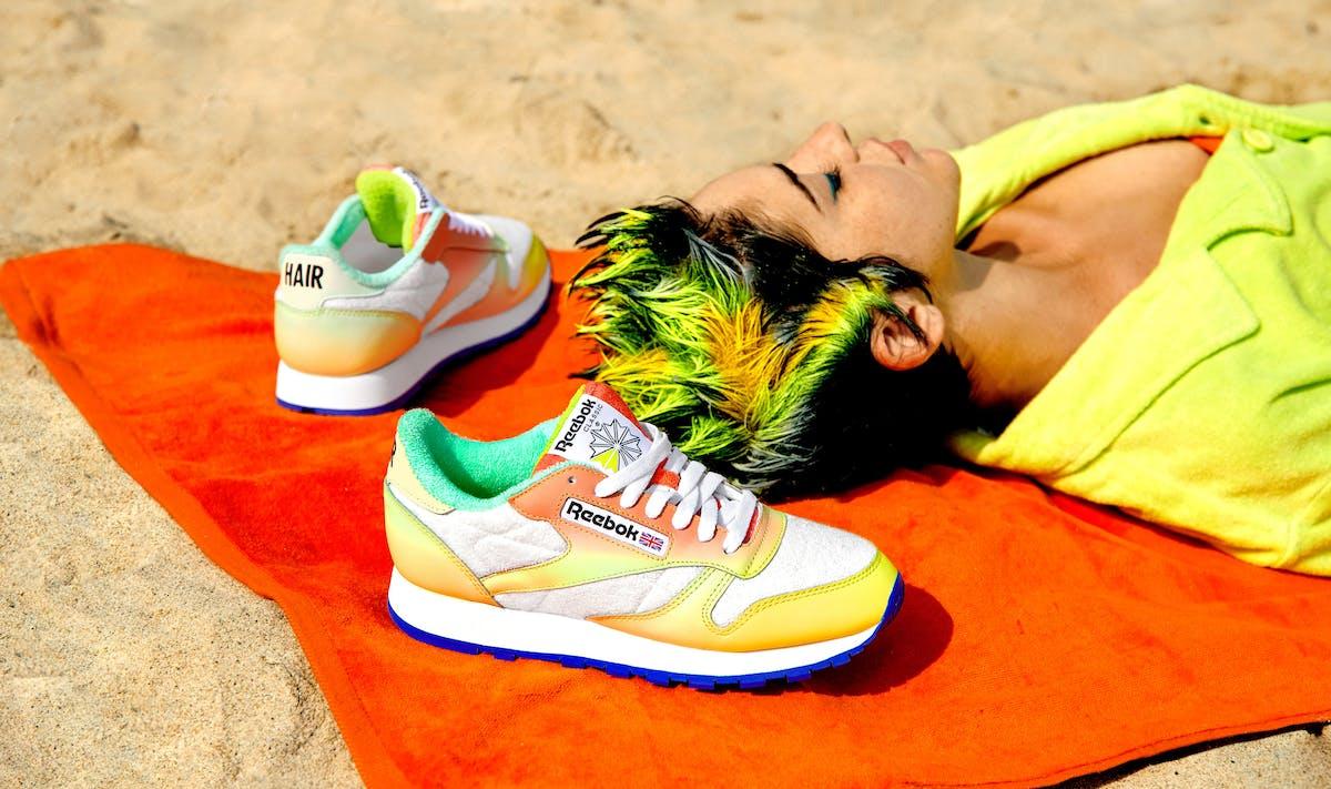 Reebok Shoe Design collaboration with Daniel Moon photograph by Harry Eelman Dan