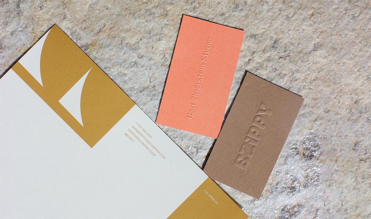 BZippy Rebrand Brand Identity Design Stationery Business Cards Letterhead Los Angeles