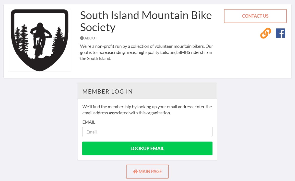 JoinIt membership lookup page