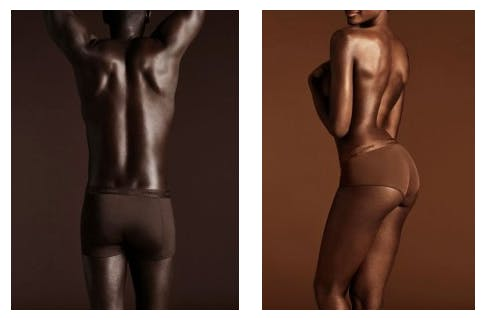Two images of a man and a women with dark skin