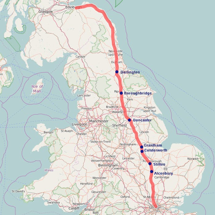 From London to Edinburgh - the A1, Britain's longest road