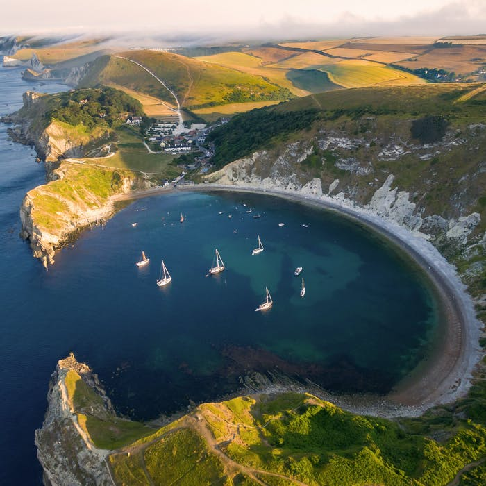 Lulworth Cove - much-loved feature of the Jurassic Coast